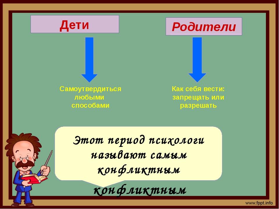 Дети Родители Самоутвердиться любыми способами Как себя вести: запрещать или...