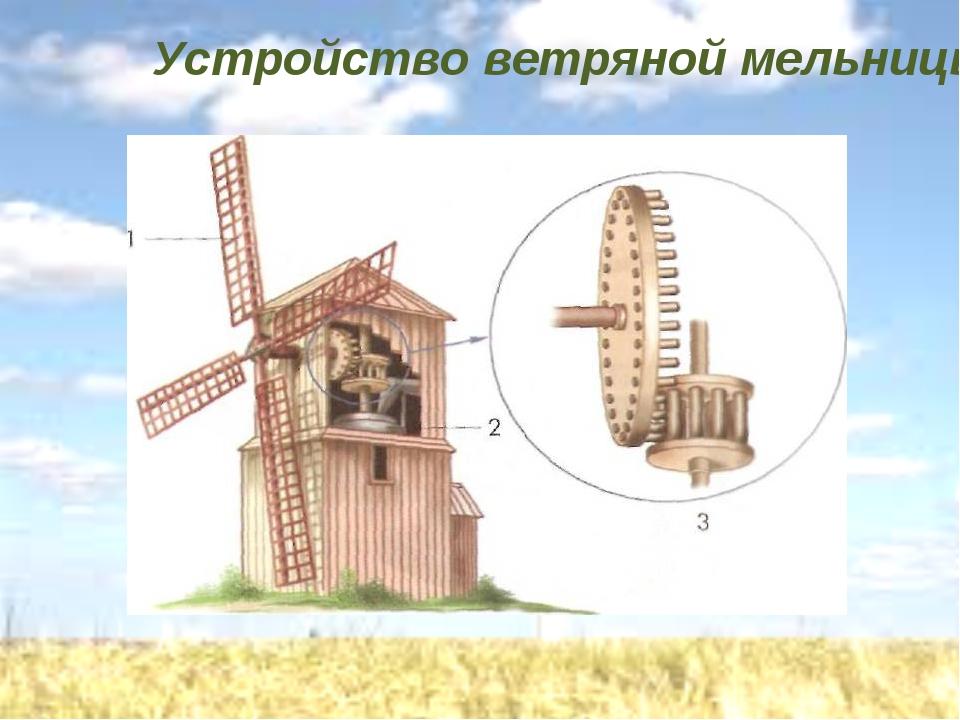 Устройство ветряной мельницы