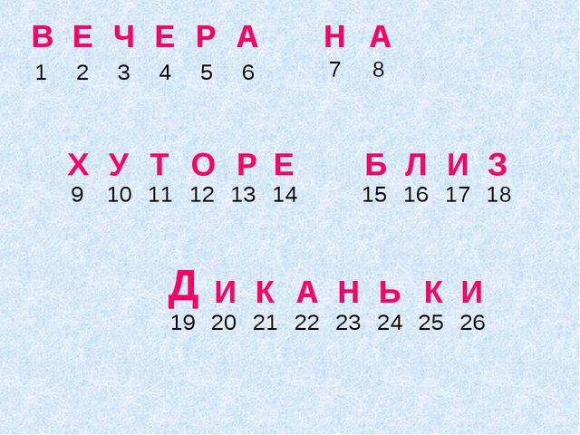 Р В Н И Е А Е К Ч Х Б А Е У Л Н Р Т И Ь А О З Д К И  123456...