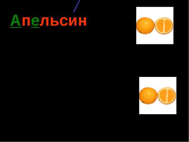 Апельсин (какой?) оранжевый, круглый, сочный, вкусный, кислый, ароматный…