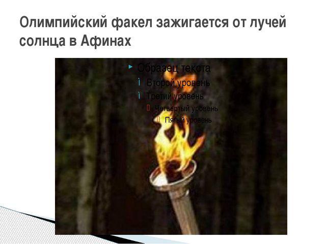 Олимпийский факел зажигается от лучей солнца в Афинах