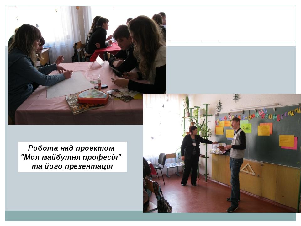 """Робота над проектом """"Моя майбутня професія"""" та його презентація"""