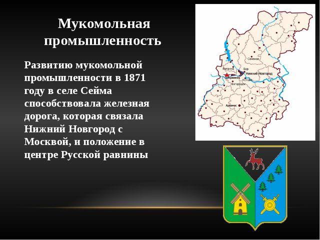 Мукомольная промышленность Развитию мукомольной промышленности в 1871 году в...