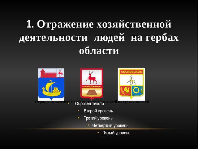 1. Отражение хозяйственной деятельности людей на гербах области