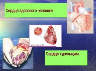 Сердце здорового человека Сердце курильщика