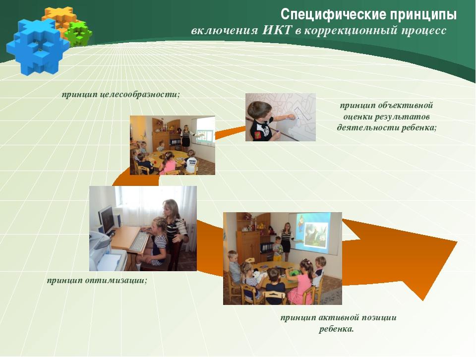 Специфические принципы принцип активной позиции ребенка. принцип объективной...