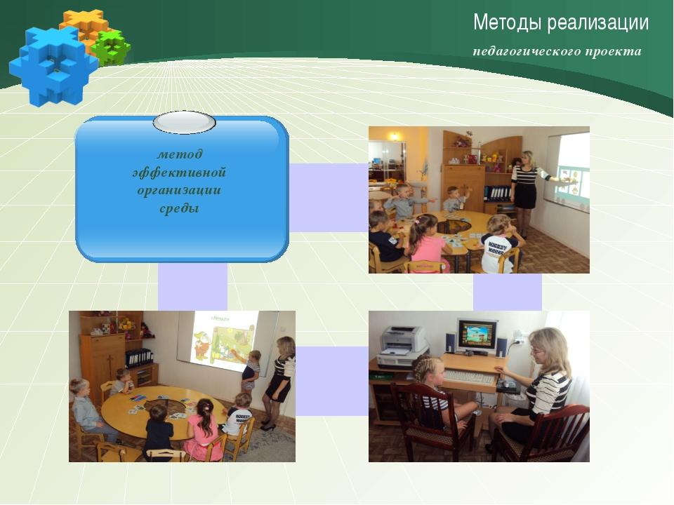 Методы реализации метод эффективной организации среды педагогического проекта