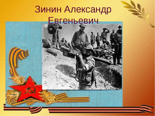 Зинин Александр Евгеньевич