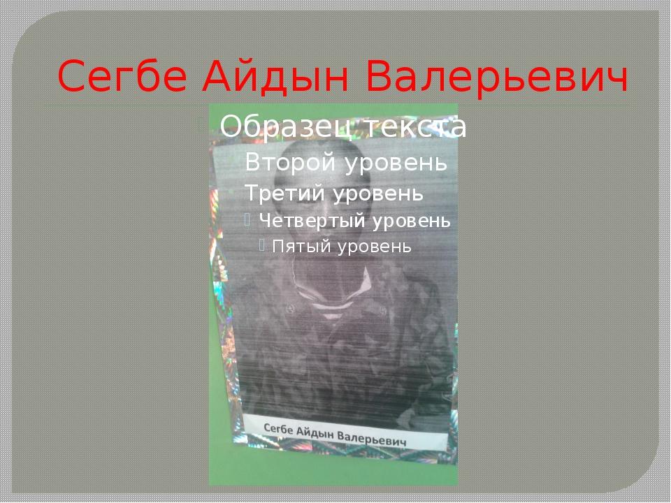 Сегбе Айдын Валерьевич