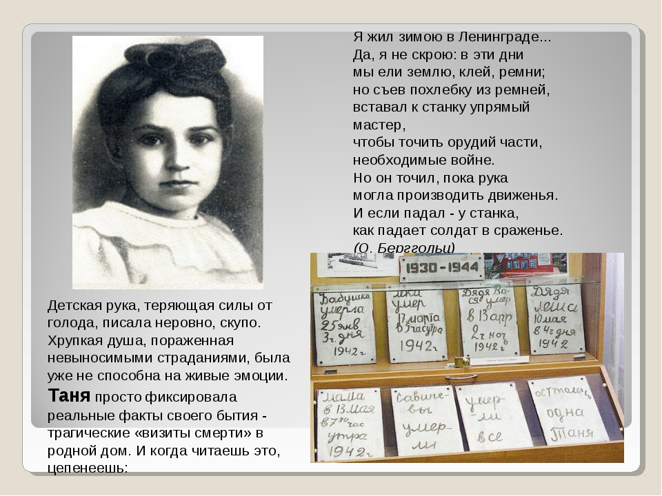 Я жил зимою в Ленинграде... Да, я не скрою: в эти дни мы ели землю, клей, рем...
