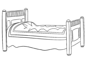 Кроватка раскраска