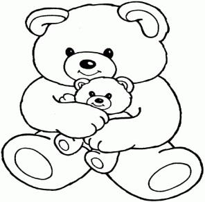Два плюшевых медведя - razukrashki.com