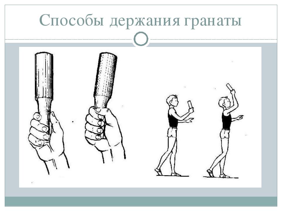 Способы держания гранаты