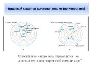 Видимый характер движения планет (по Копернику)