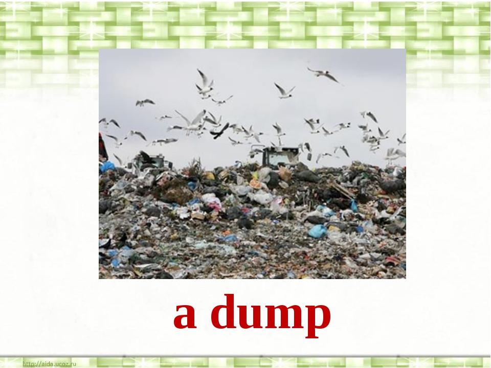 a dump