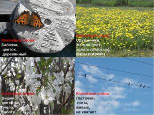 Ключевые слова: Бабочка, цветок, деревянный Ключевые слова: Одуванчики, Жёлто