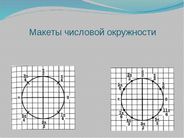 Макеты числовой окружности