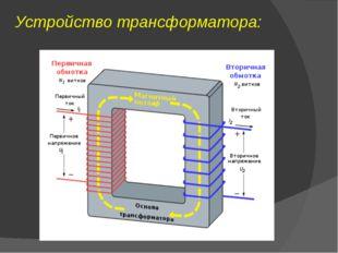 Устройство трансформатора: