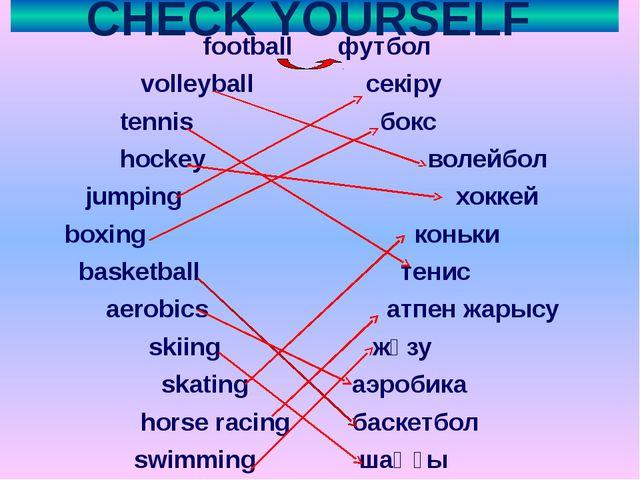 CHECK YOURSELF football футбол volleyball секіру tennis бокс hockey волейбол...