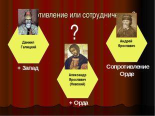 Сопротивление или сотрудничество? Даниил Галицкий Александр Ярославич (Невски