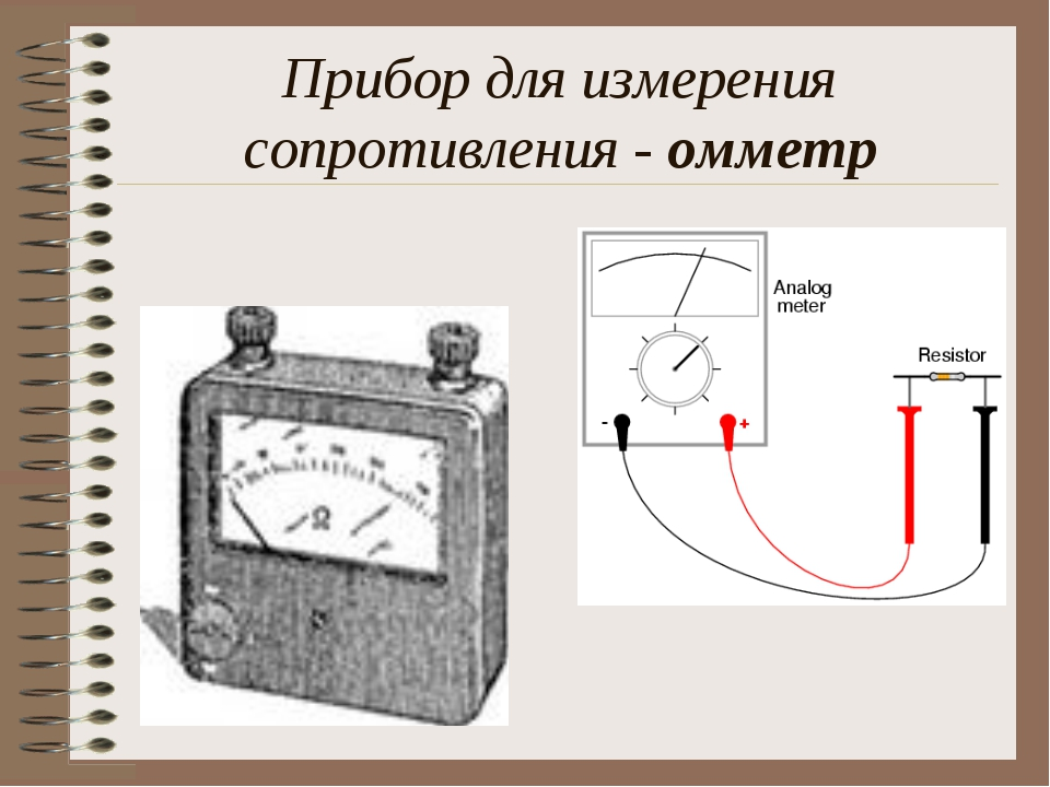 Прибор для измерения сопротивления - омметр