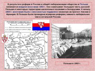 В результате реформ в России и общей либерализации общество в Польше начинает