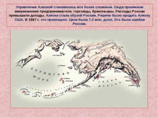 Управление Аляской становилось все более сложным. Сюда проникали американские