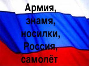 Армия, знамя, носилки, Россия, самолёт