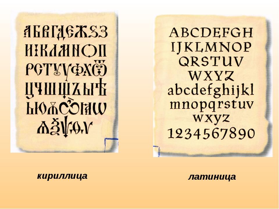 кириллица латиница