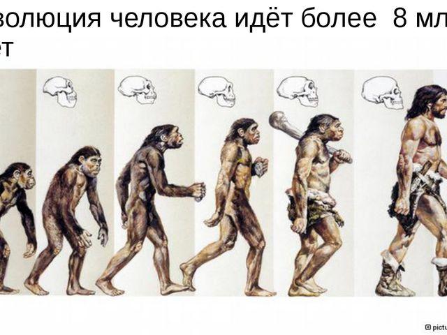 Эволюция человека идёт более 8 млн лет