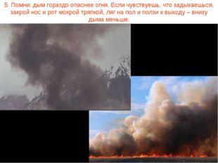 5. Помни: дым гораздо опаснее огня. Если чувствуешь, что задыхаешься, закрой