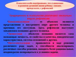Традиционно в психологии различают несколько видов рефлексии: Коммуникативная