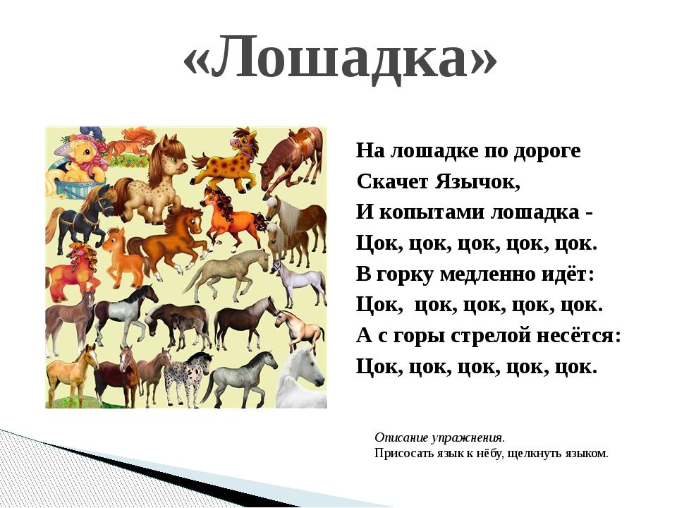 «Лошадка» На лошадке по дороге Скачет Язычок, И копытами лошадка - Цок, цок,...