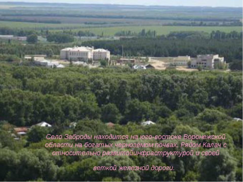 Село Заброды находится на юго-востоке Воронежской области на богатых чернозё...
