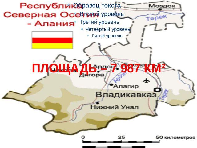 ПЛОЩАДЬ – 7 987 КМ²