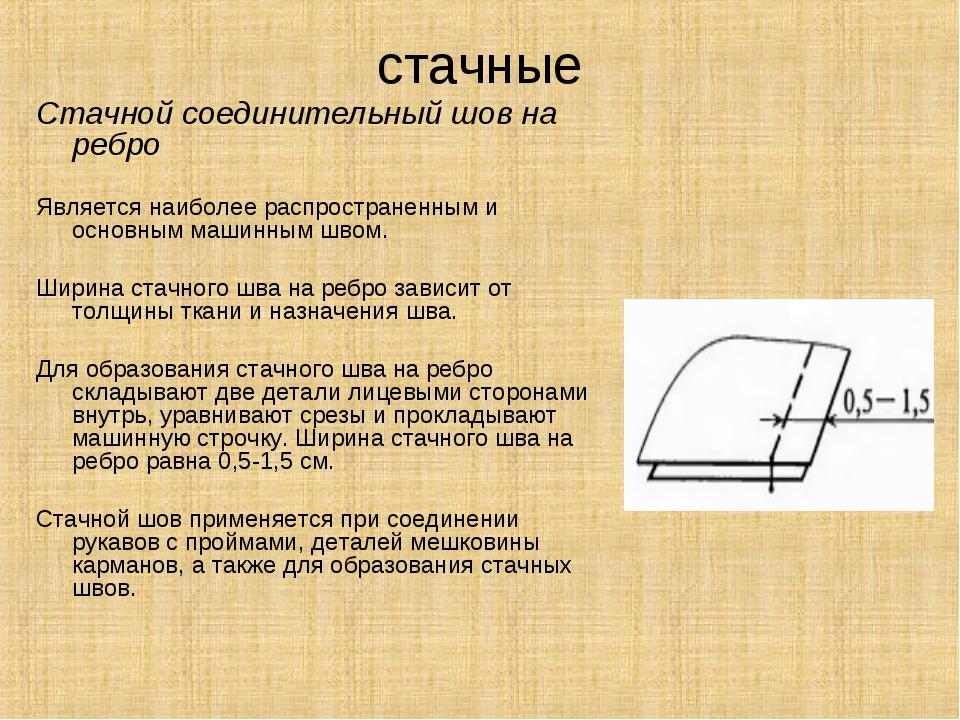 стачные Стачной соединительный шов на ребро Является наиболее распространенны...