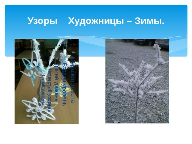 Узоры Художницы – Зимы.