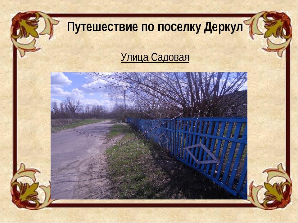 Путешествие по поселку Деркул Улица Садовая