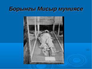 Борынгы Мисыр мумиясе