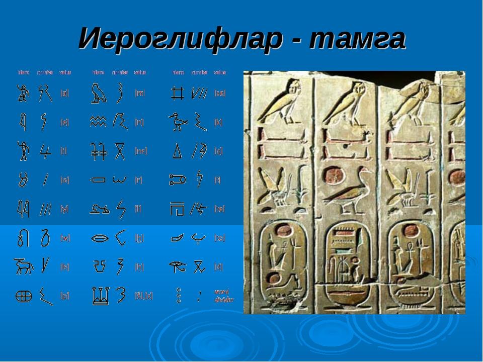 Иероглифлар - тамга