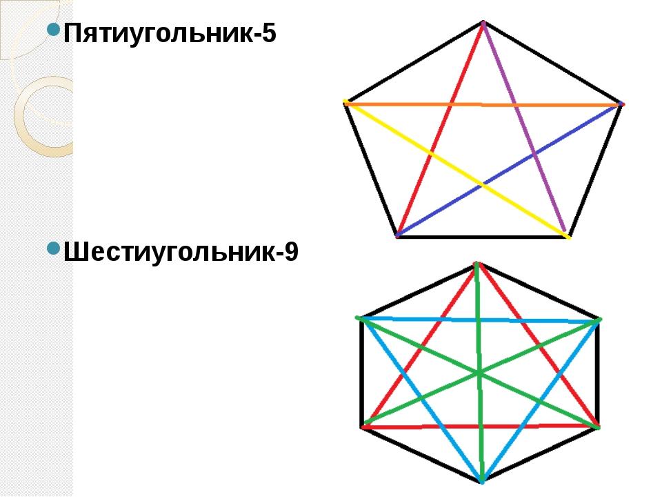 Пятиугольник-5 Шестиугольник-9