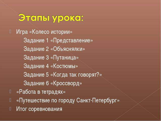 Игра «Колесо истории» Задание 1 «Представление» Задание 2 «Объяснялки» Задани...