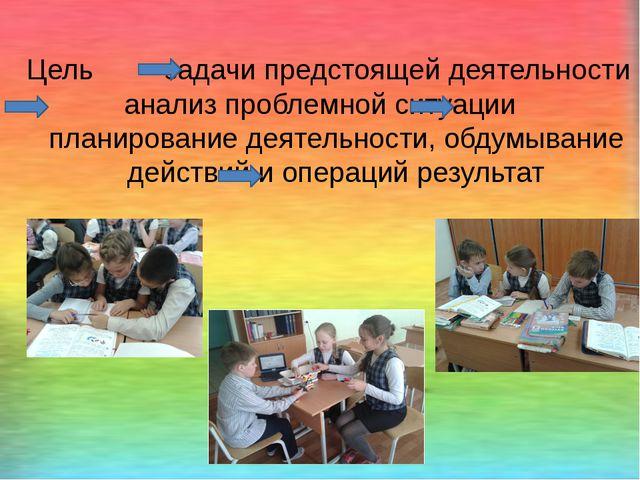 Цель задачи предстоящей деятельности анализ проблемной ситуации планирование...