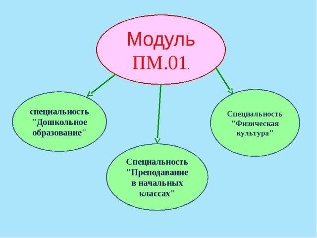 """Модуль ПМ.01. специальность """"Дошкольное образование"""" Специальность """"Преподава..."""