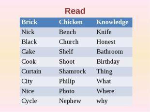 Read Brick Chicken Knowledge Nick Bench Knife Black Church Honest Cake Shelf
