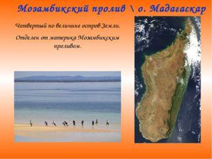Мозамбикский пролив \ о. Мадагаскар Четвертый по величине остров Земли. Отдел