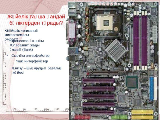 Сыртқы интерфейстер Жүйелік тақша қандай бөліктерден тұрады? Жүйелік логиканы...