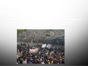 Основной лозунг демонстрантов «Народ хочет падения режима» Основная цель: от