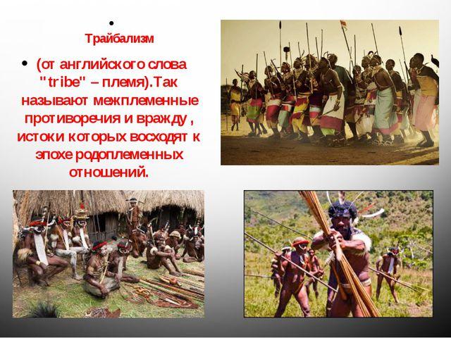 """Трайбализм (от английского слова """"tribe"""" – племя).Так называют межплеменные..."""