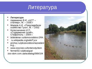 Литература Литература Авраменко В.И. «АСТ – сталкер», М. – 2005 г Марков А.И.